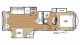2018 Sandpiper HT 2850RL Floor Plan