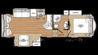 2019 Sandpiper HT 2850RL Floor Plan