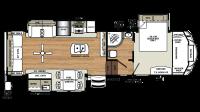 2019 Sandpiper 343RSOK Floor Plan
