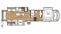 2019 Sandpiper 367DSOK Floor Plan