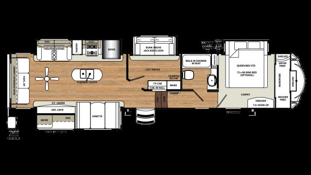 2018 Sandpiper 372LOK Floor Plan