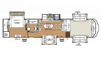 2019 Sandpiper 377FLIK Floor Plan