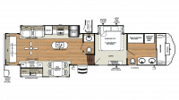 2018 Sandpiper 378FB Floor Plan
