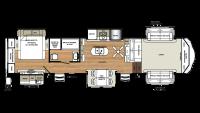 2018 Sandpiper 379FLOK Floor Plan