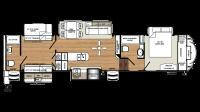 2019 Sandpiper 381RBOK Floor Plan