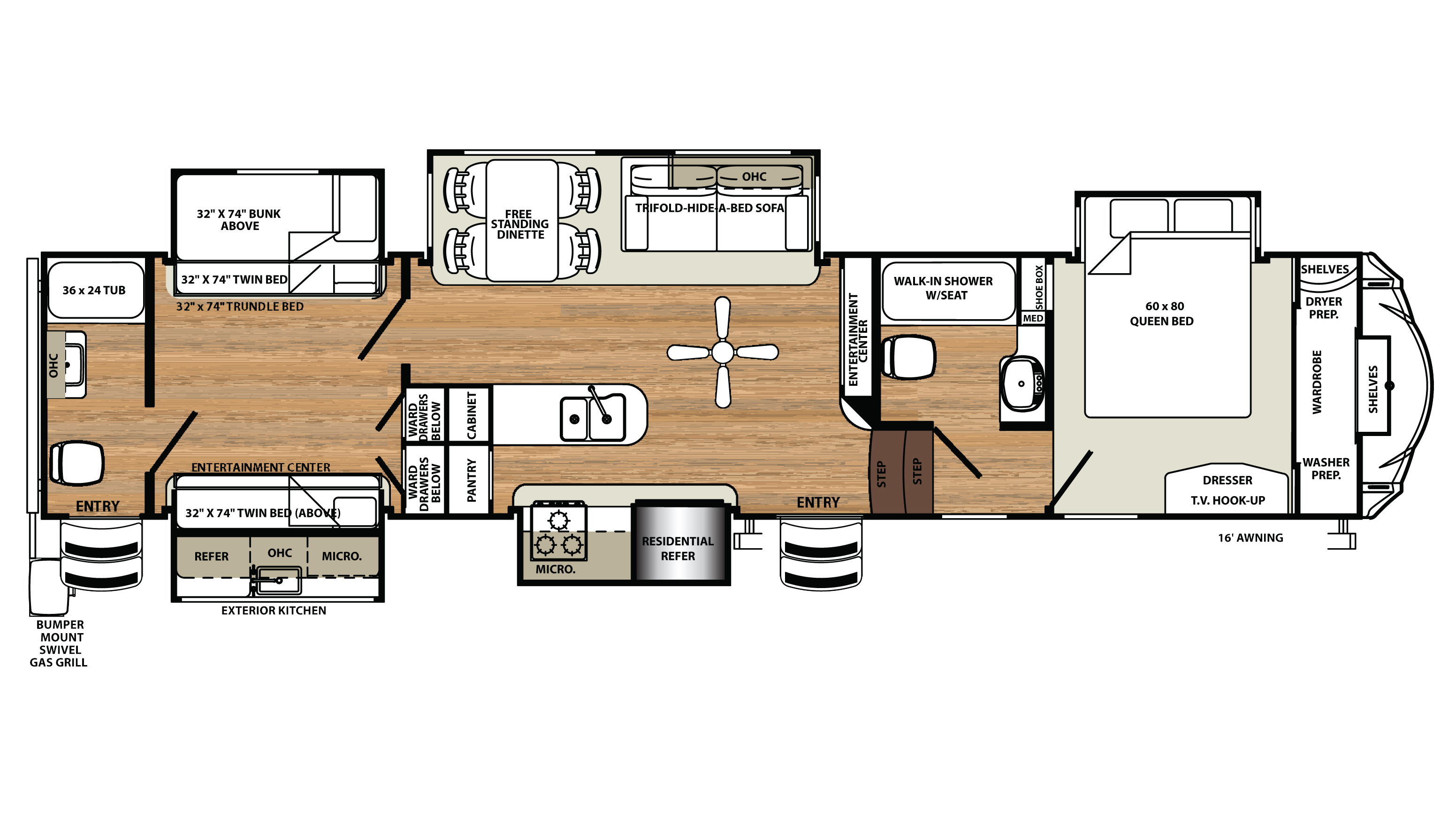 Photo Bunkhouse Fifth Wheel Floor Plans Images 100 Th Wheel Bunkhouse Floor Plans New 5th