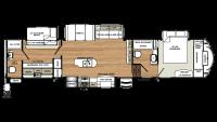 2019 Sandpiper 383RBLOK Floor Plan