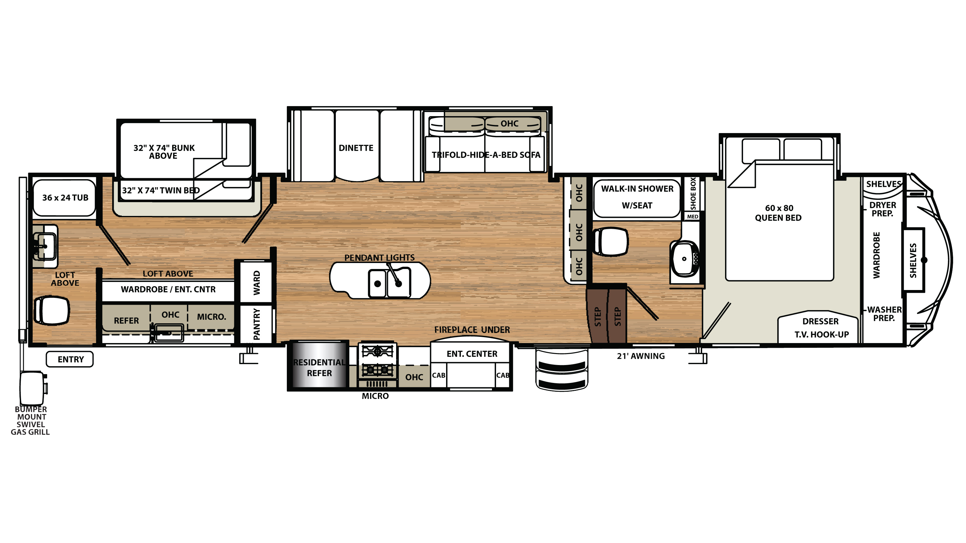 Fleetwood Prowler 5th Wheel Floor Plans Salem Forest River 2005 Travel Trailer Wiring Diagram 2005