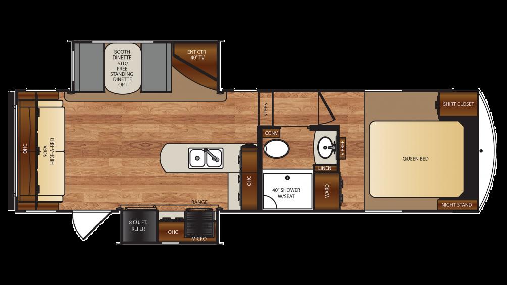 Wildcat 5th Wheel Floor Plans: Forest River Wildcat 26CK 5th Wheel Floor Plan