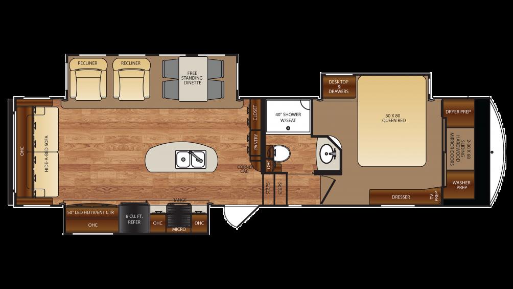 Forest River Wildcat 323MK 5th Wheel Floor Plan