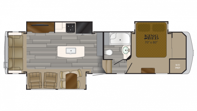 2018 Bighorn Traveler 32RS Floor Plan