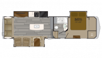 2019 Bighorn Traveler 32RS Floor Plan