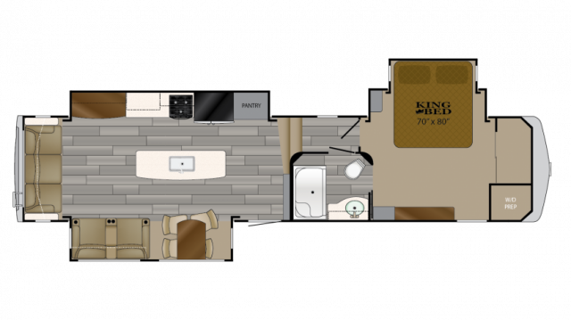 2018 Bighorn Traveler 37SS Floor Plan