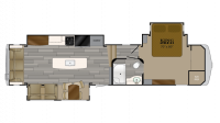 2019 Bighorn Traveler 37SS Floor Plan
