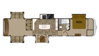 2018 Bighorn Traveler 39RD Floor Plan