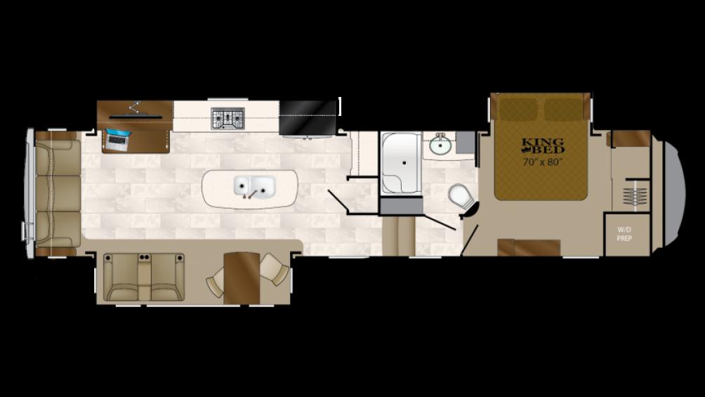 Bighorn 3675el 5th Wheel Floor Plan