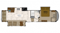 2019 Bighorn 3575EL Floor Plan