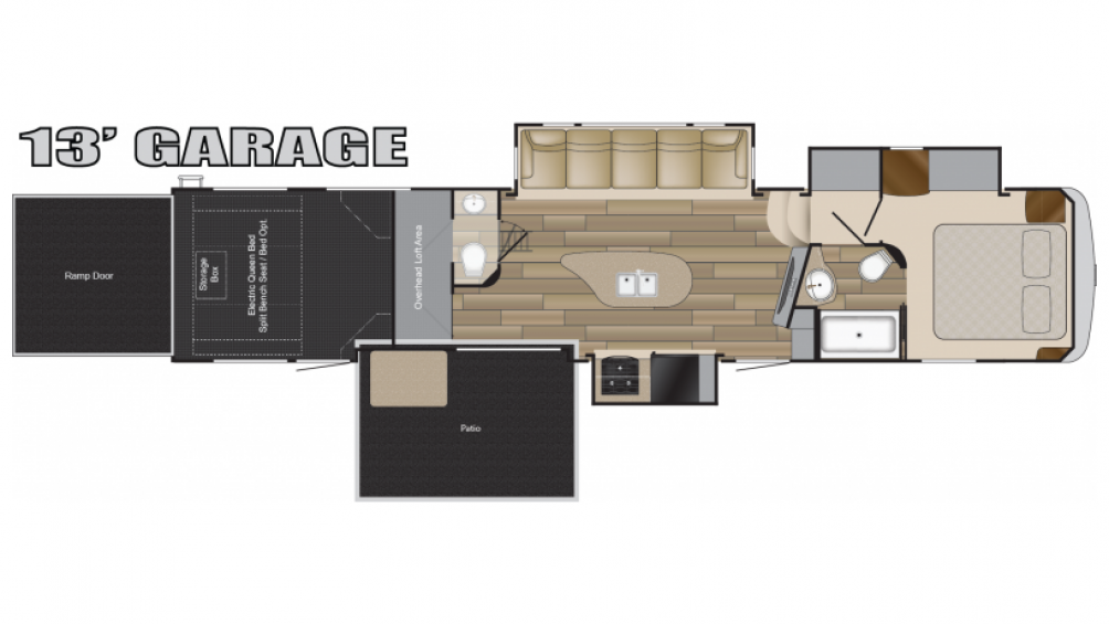 Cyclone 4250 Toy Hauler Floor Plan