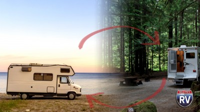 RV On The Beach Or RV In The Woods. Your Choice