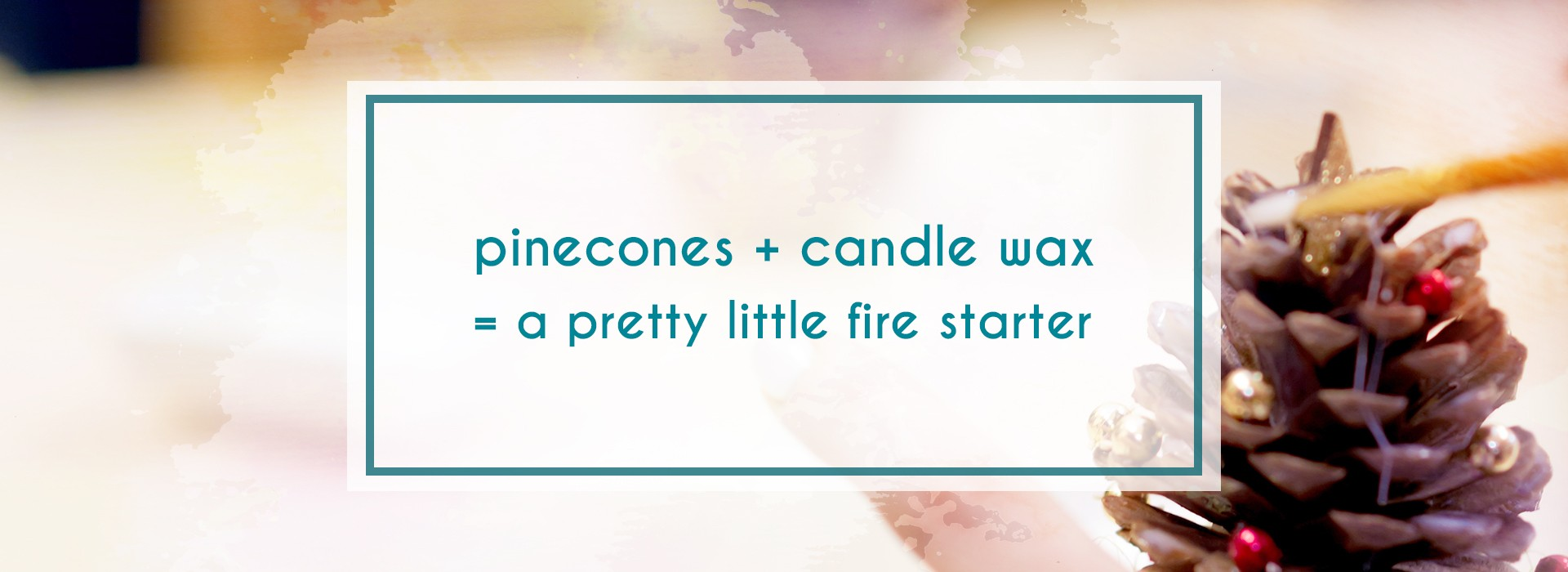 Pinecone firestarters
