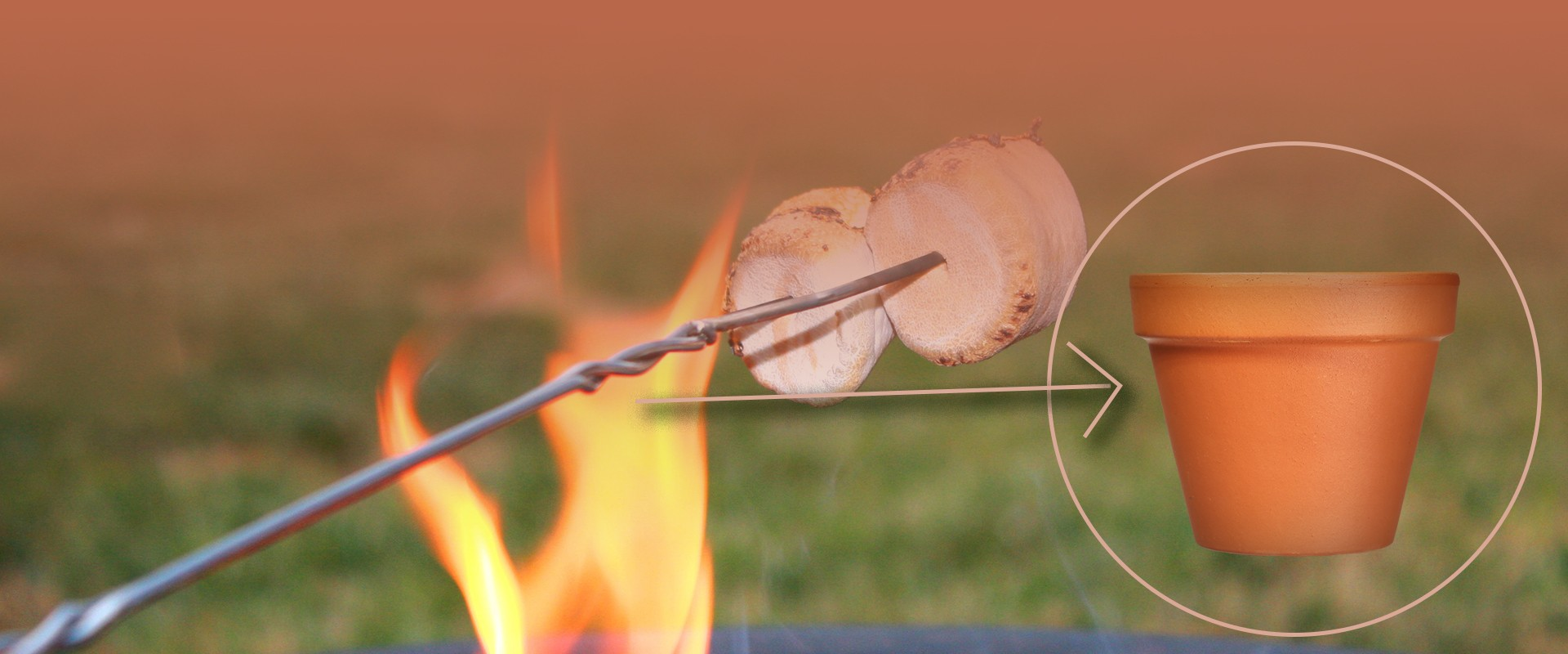 Keep all your marshmallow roasting sticks together in a terracotta pot holder