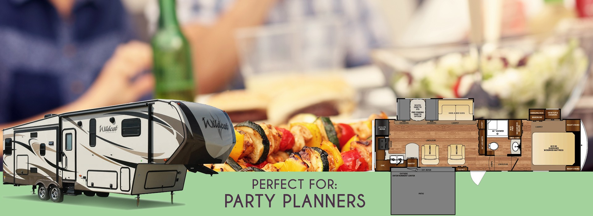Forest River Wildcat 29RKP: perfect for party planners