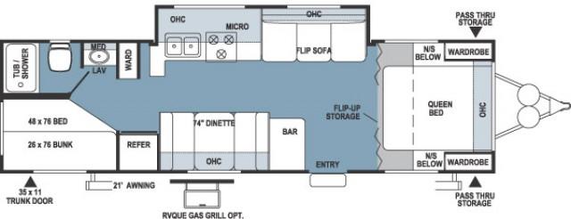 2005 Rockwood 2701ss Floor Plan