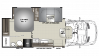2019 Prism ELITE 24EF Floor Plan