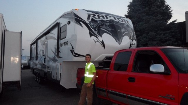 Dustin Edwards of Marathon, CA with their Raptor 375TS