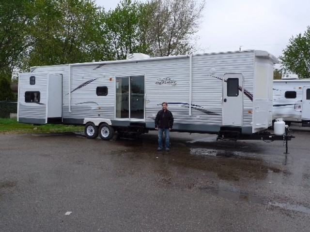 The Anderson Family of Sherwood Park, AB with their Jay Flight Bungalow 40FKS