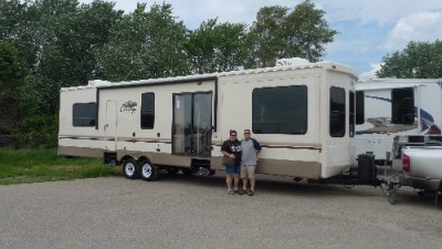 Aaron Deshano of Chillicothe, IL with their Cedar Creek Cottage 40CRL