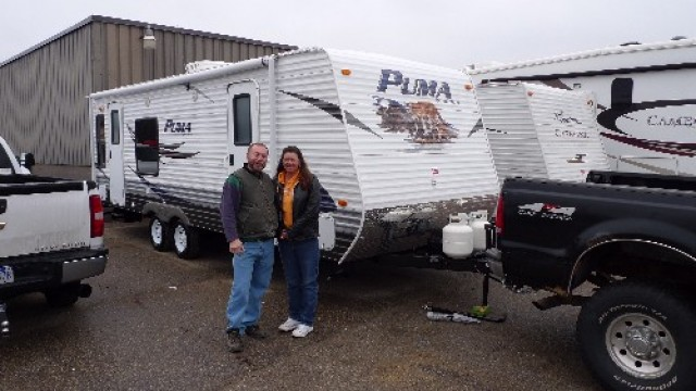 Terry Joos of North Las Vegas, SK with their Puma 295BHSS