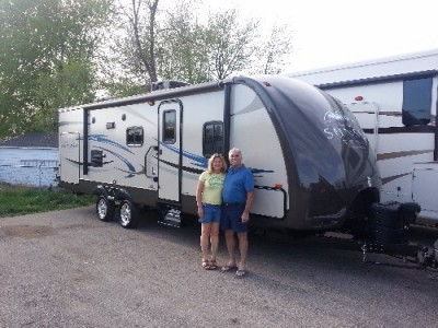 Pamela of Downers Grove, IL with their Sunset Trail Super Lite ST250RB