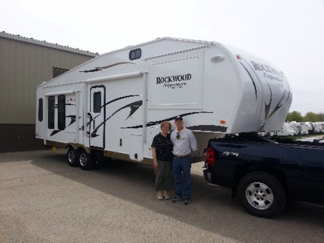 MaryAnn Varney of Honor, BC with their Rockwood Signature Ultra Lite 8289WS