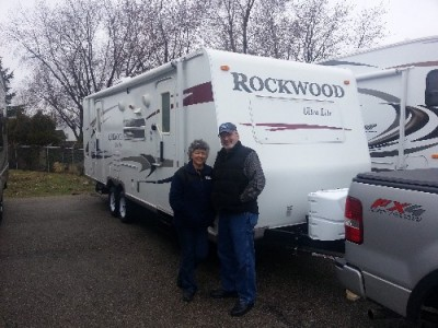 John Carter of Bailey, BC with their Rockwood Ultra Lite 2604WS