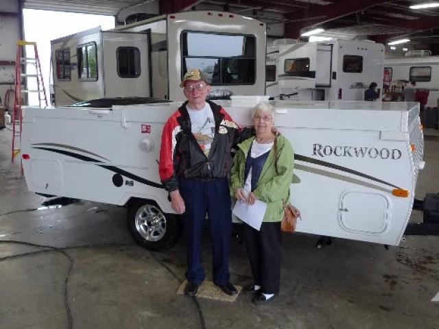Carlton Edmonson of Swansea, NC with their Rockwood Mini Lite 2104S