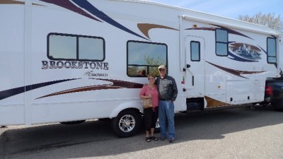 Rick of Tecumseh with their Brookstone 375FL