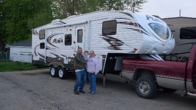 Randy Blais of Middleview, BC with their Puma 230FBS