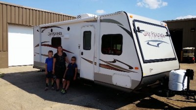 Rosso Family Schreur of West Lake, PA with their Jay Feather Ultra Lite X18D