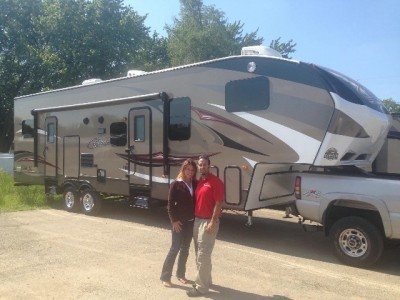 Tim And Emily Redmond of Dartmouth, NL with their Cougar 313RLI