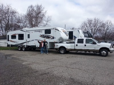 Larry Neely of Ortonville with their Chaparral Lite 29MKS