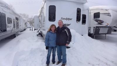 Dean Andersen of River View, MI with their Sandpiper Destination 402QB