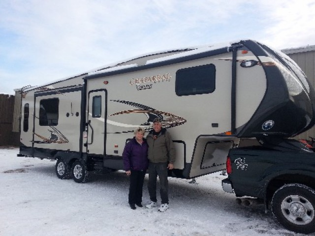 Gerry Griffith of Crossings, BC with their Chaparral Lite 29MKS