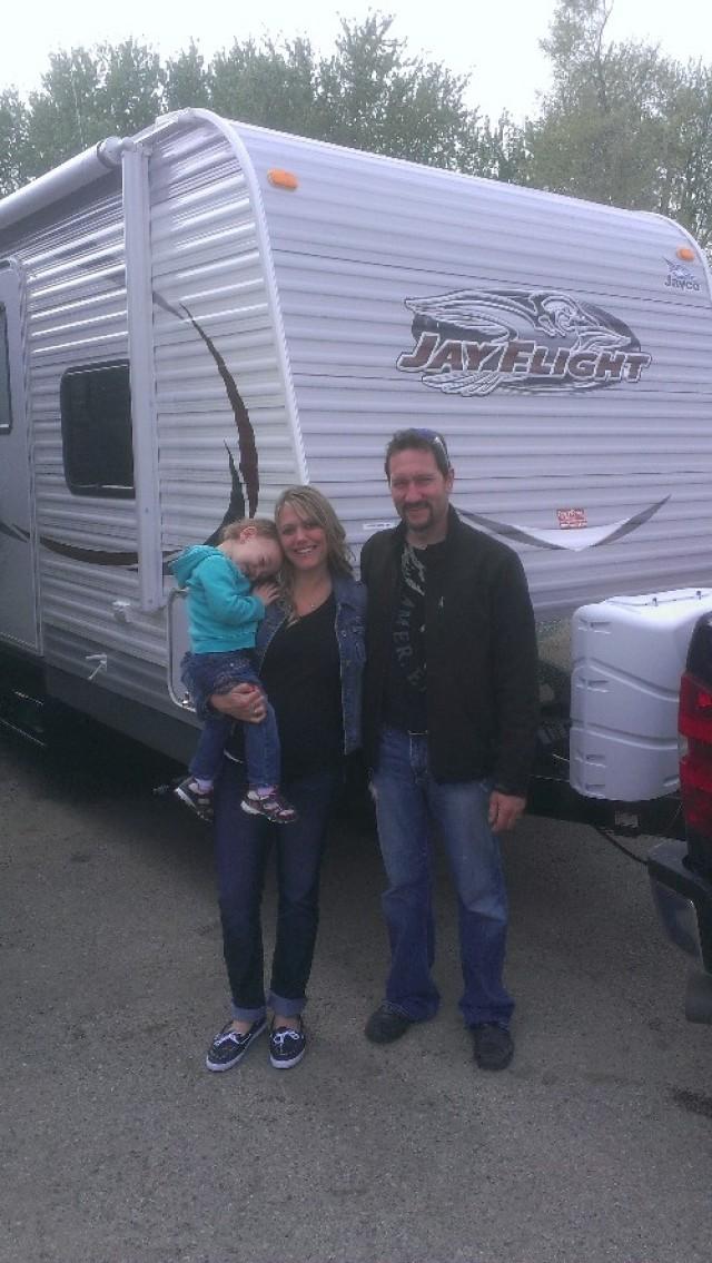 Scott Ellison of Wilson, BC with their Jay Flight 27RLS