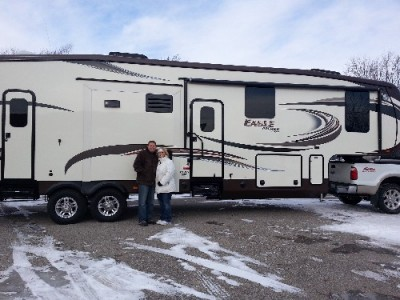 Steve Faulk of St. Clair with their Eagle Premier 375BHFS