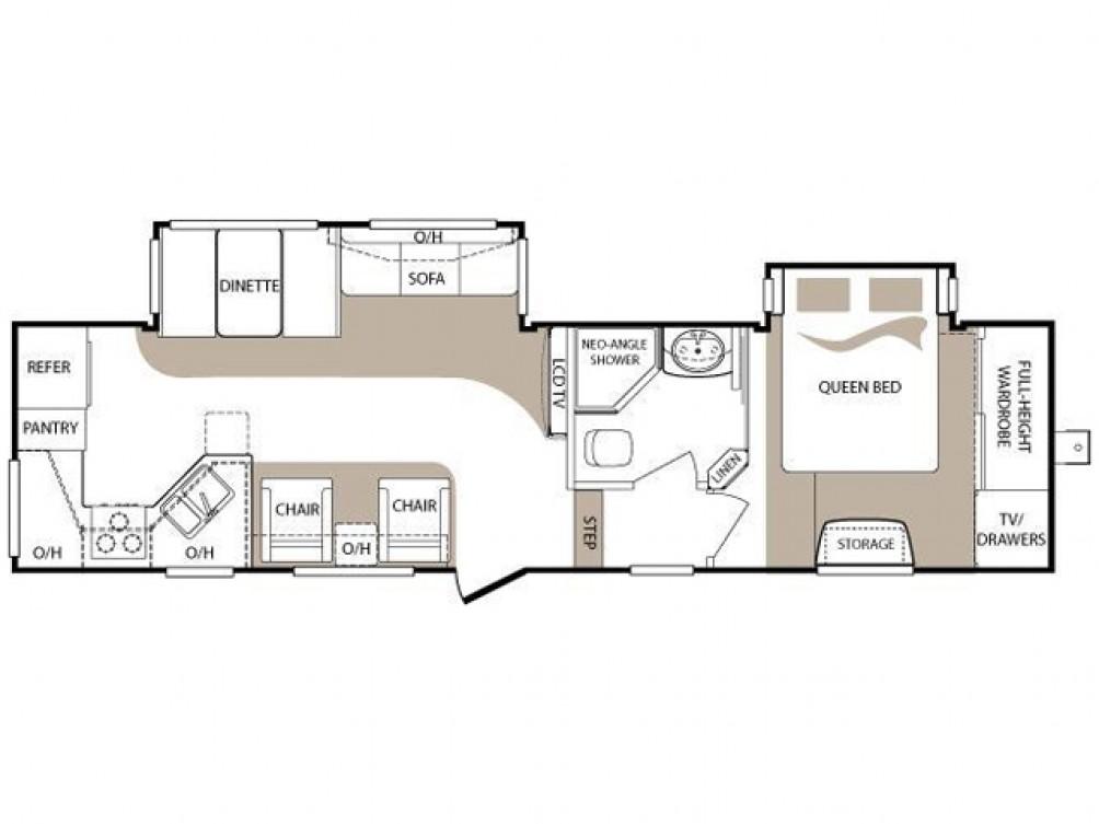 2012 Cougar High Country 299RKS Floor Plan 5th Wheel Keystone RV