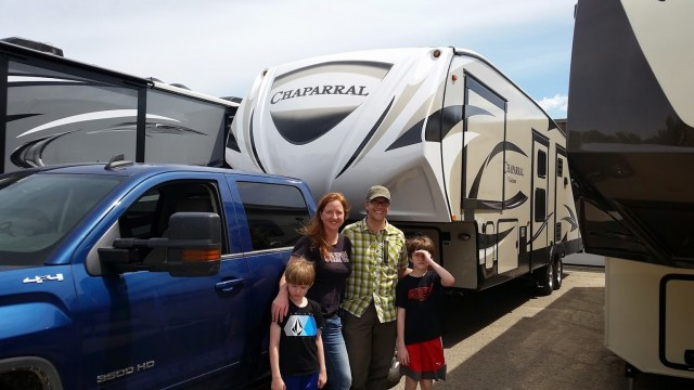 Jane Hobbs of Encampment, IA with their Chaparral 360IBL