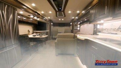 RV Living space with foggy air