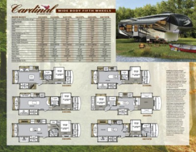 2013 Forest River Cardinal RV Brochure Cover