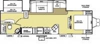 2009 Wildwood 29BHBS Floor Plan